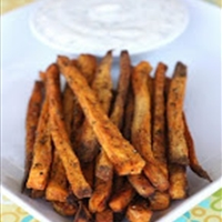 Baked Sweet Potatoe Fries with Honey-Lime Dip