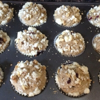 Banana Bluberry Apple Bran Muffins
