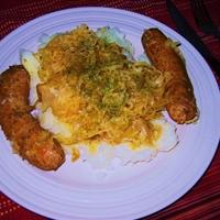 Bangers Mash and Sauerkraut