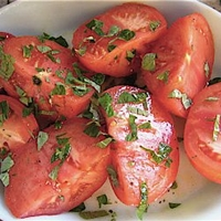 Basil Marinated Tomatoes