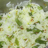 Basmati Rice with Green Beans Pilaf