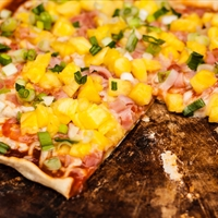 BBQ Ham and Pineapple Pizza
