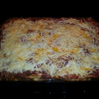 Beef and Cheese Baked Pasta