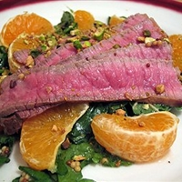 Beef And Orange Salad with Red Onion Mustard Vinaigrette