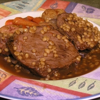 Beef Barley Roast In Pressure Cooker