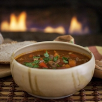 Beef, Bell Pepper & Tomato Goulash Soup