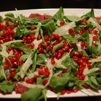 Beef Carpaccio with Pomegranate