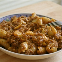 Beef Casserole with Creamy Cheese Pasta