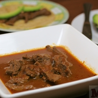 Beef in beer stew (Molli Morelos Cooking Sauce)