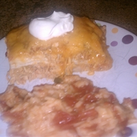 Beef or Chicken Enchilada Casserole (Deep Covered Baker)
