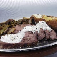 Beef Tenderloin with Garlic Horseradish Cream