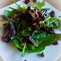 Beets, Pear and Walnut Gorgonzola Salad