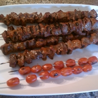 Best Ever Saucy Beef Kabobs