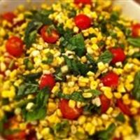 Charred Corn Salad with Tomatoes and Basil