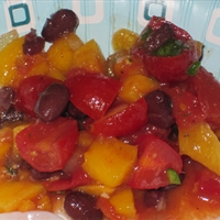 Black Bean, Mango and Tomato Salsa