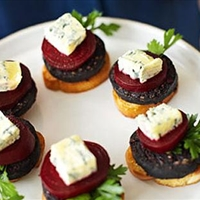 Black pudding toasts