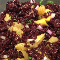 Black Rice Mango and Orange Salad