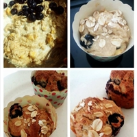 Blueberry Banana Oat Muffin (eggless)