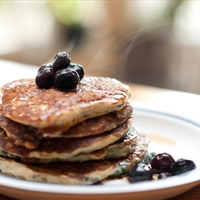 Blueberry Oatmeal Pancakes