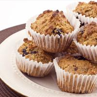 Blueberry-Walnut Oatmeal Muffins (gluten free, vegan)