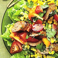 Boerewors and Corn Salad