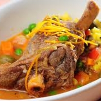 Braised Lamb Shanks With Chopped Tomatoes