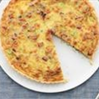 Cheesy Breakfast Tart With Pancetta and Scallions