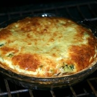 Broccoli, Mushroom and Double Cheese Quiche