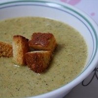 Broccoli Soup with Homemade Croutons