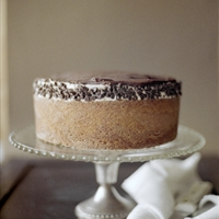 Brown Butter Cake with Cookie Dough Frosting