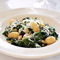 Brown Butter Gnocchi with Spinach & Pine Nuts