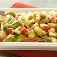 Brussels Sprouts with Apples and Shallots