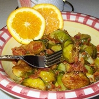Brussels Sprouts with Orange and Bacon