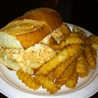 Buffalo Chicken french Dip Sandwich