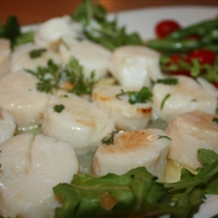 Butter-poached Scallops