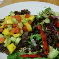 Caribbean Black Beans with Mango Salsa