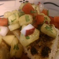 Caribbean Grilled Chicken with Pineapple Salsa
