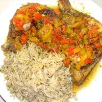 Caribbean chicken and gravy