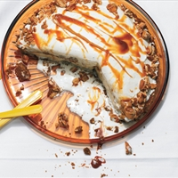 Carmel Nut Crunch Ice Cream Pie