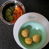 Carrot Rice Ball (eggless)