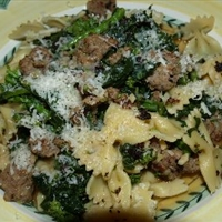 Cavatelli with Italian Sausage And Brocolli Rabe