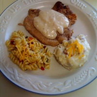 CB's Crispy Fried Pork Chops in Cream Gravy