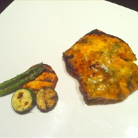 Cedar Plank Grilled Honey Mustard Salmon [Paleo]