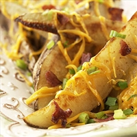 Cheddar Potato Wedges
