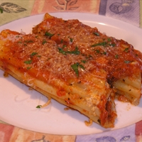 Cheese and Sausage Stuffed Manicotti