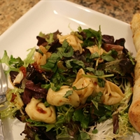 Cheese Tortellini Salad with Sun-dried Tomato Vinaigrette