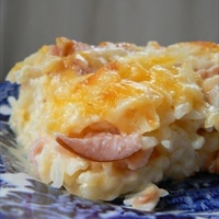Cheesy Canadian Bacon and Hashbrown Casserole