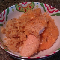 Cheesy Spanish Rice and Chicken