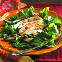 Chicken and Pear Salad on Arugula