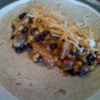 Chicken, Black Bean, and Corn Fajitas